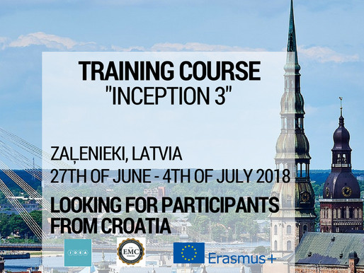 Training Course │Zaļenieki, Latvia LV│Inception 3
