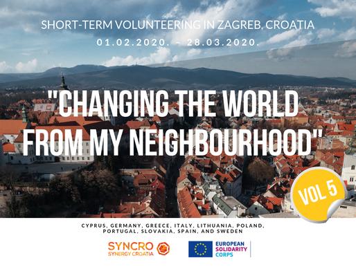 "SHORT-TERM VOLUNTEERING (ESC)│ Zagreb, Croatia │""Changing The World From My Neighbourhood"" Vol.5"