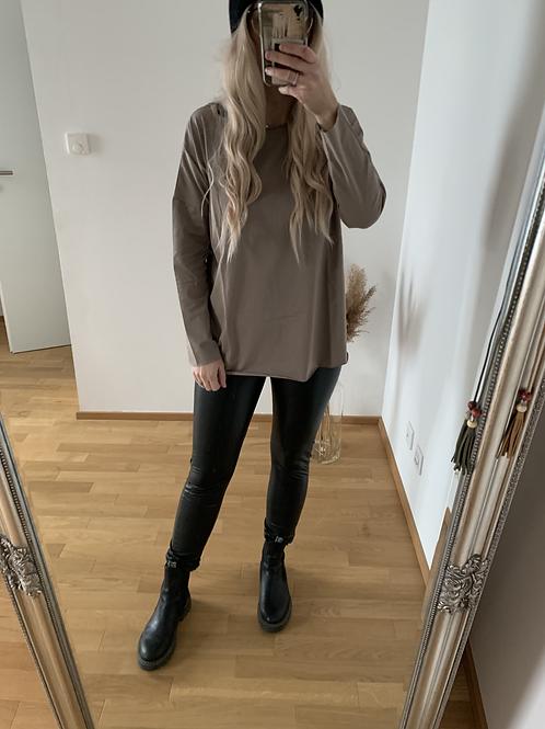 Basic Langarmshirt Oversize