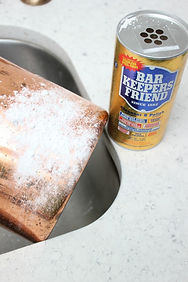 How to restore copper with bar keepers friend.