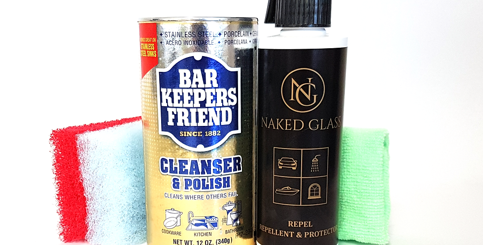 Shower Cleaning & Protection Kit - Cleanser & Polish