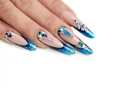 Winter nail art polish, Nails gel techni