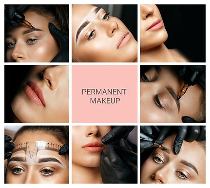 Permanent makeup collage_ closeup photos of woman with eyebrow and lip permanent.jpg