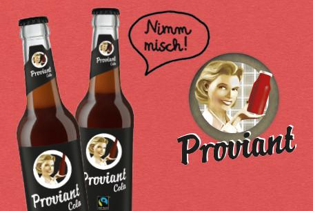 Jetzt neu: die Cola mit Fairtrade-Siegel und Cola zuckerfrei von Proviant
