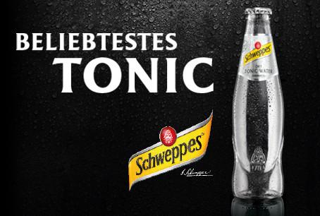 Schweppes Dry Tonic : beliebtestes Tonic unter Bartendern