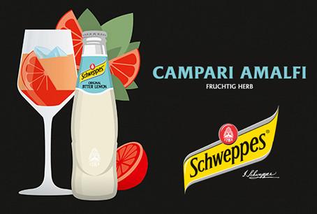 Schweppes bringt mit dem Campari Amalfi italienische Aperitivokultur ins deutsche Nachtleben