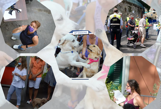 Chiara Bisso, Chiara Bozzo, Anna Maria Gallina.  Volontari Gruppo Alpini Recco Golfo Paradiso e volontari Protezione Civile Vab Camogli