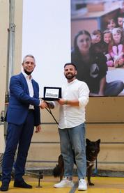 Davide Acito premiazione con Pietro Boselli, Banca di Piacenza
