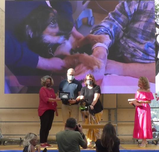 PHOEBE premiazione con Anna Arnoldi, Presidente del Consiglio, Comune di Camogli