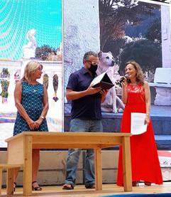 Premiazione con Elisabetta Abamo, Assessore Comune di Camogli