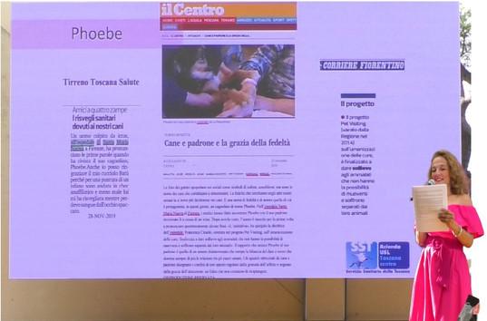 Phoebe e il programma di Pet Visiting - Ospedale Santa Maria Nuova di Firenze