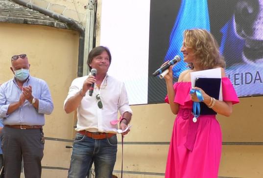 LEIDAA, rappresentata dal Dirigente Nazionale Roberto Cavallo. Premiazione con Italo Mannucci, Assessore Comune di Camogli