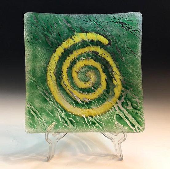 Original fused glass plate