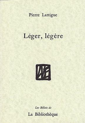 Pierre Lartigue - Léger, légère