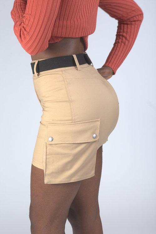 Cargo Khaki Skirt