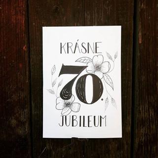 Krásne jubileum _Aj takáto kartička môže