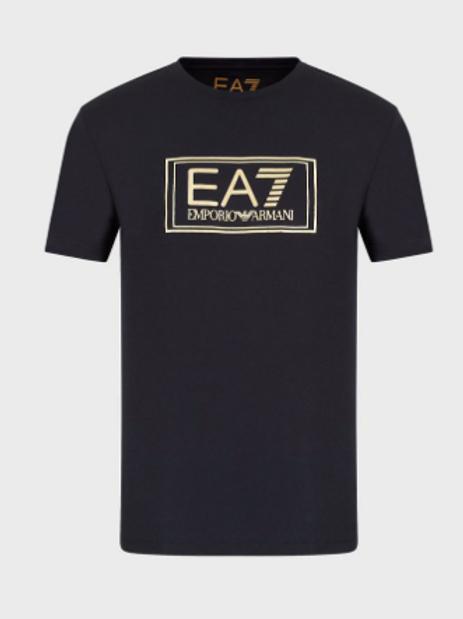 EA7  Jersey T-shirt with metallic print
