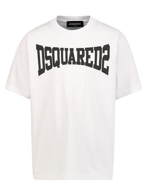 Dsquared2 logo t-shirt wit