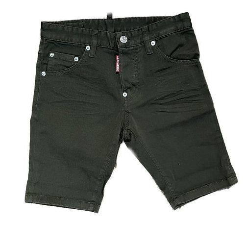 Dsquared2 skinny spijkershort groen