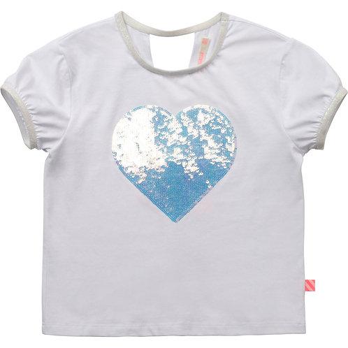 Billieblush t-shirt hart met glitters