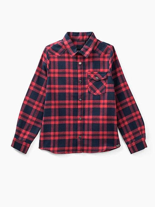 IKKS navy en rood geruit overhemd