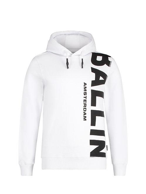 Ballin hoodie wit met zwarte letters