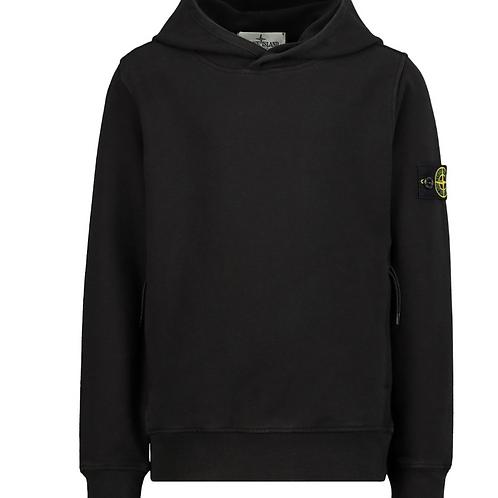 Stone island hoodie met rits zwart