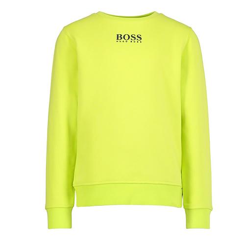 Hugo Boss sweater neon geel