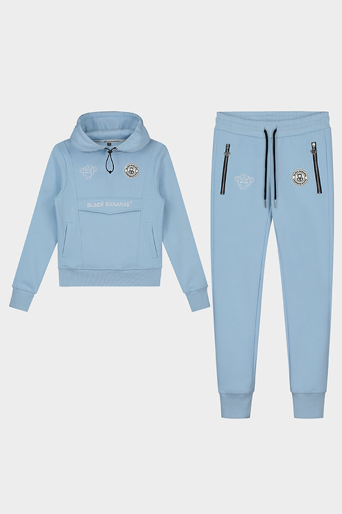 Black Bananas Girls anorak tracksuit light blue