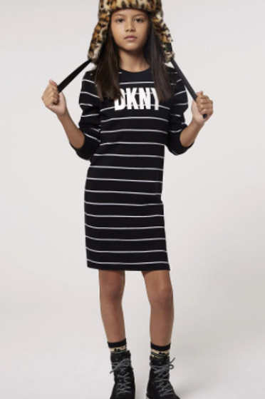 DKNY jurk gestreept