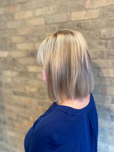 Icy Double Full Highlights by Anya at Beach Shack Hair Salon in Carlsbad Village