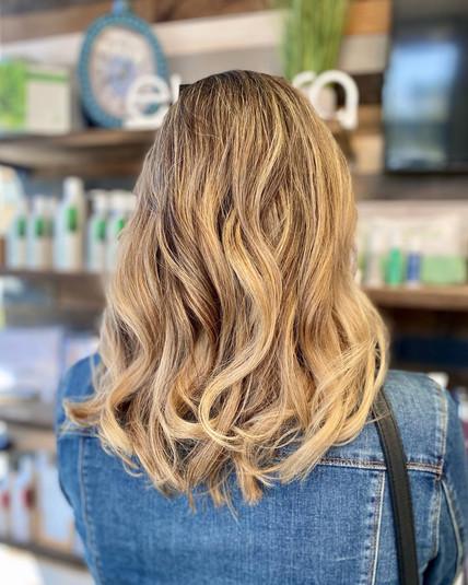 Sandy Blonde Balayage by Anya at Beach Shack Hair Salon Carlsbad Village