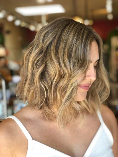 Warm Golden Sunkissed Balayage by Anya at Beach Shack Hair Salon in Carlsbad Village