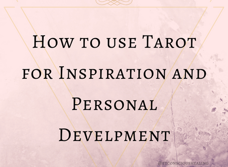 How to use Tarot Cards for Inspiration and Personal Development