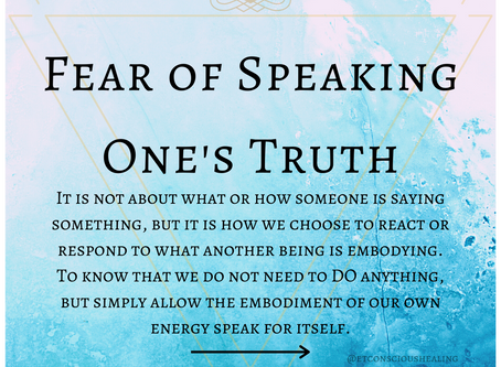 Fear of Speaking One's Truth