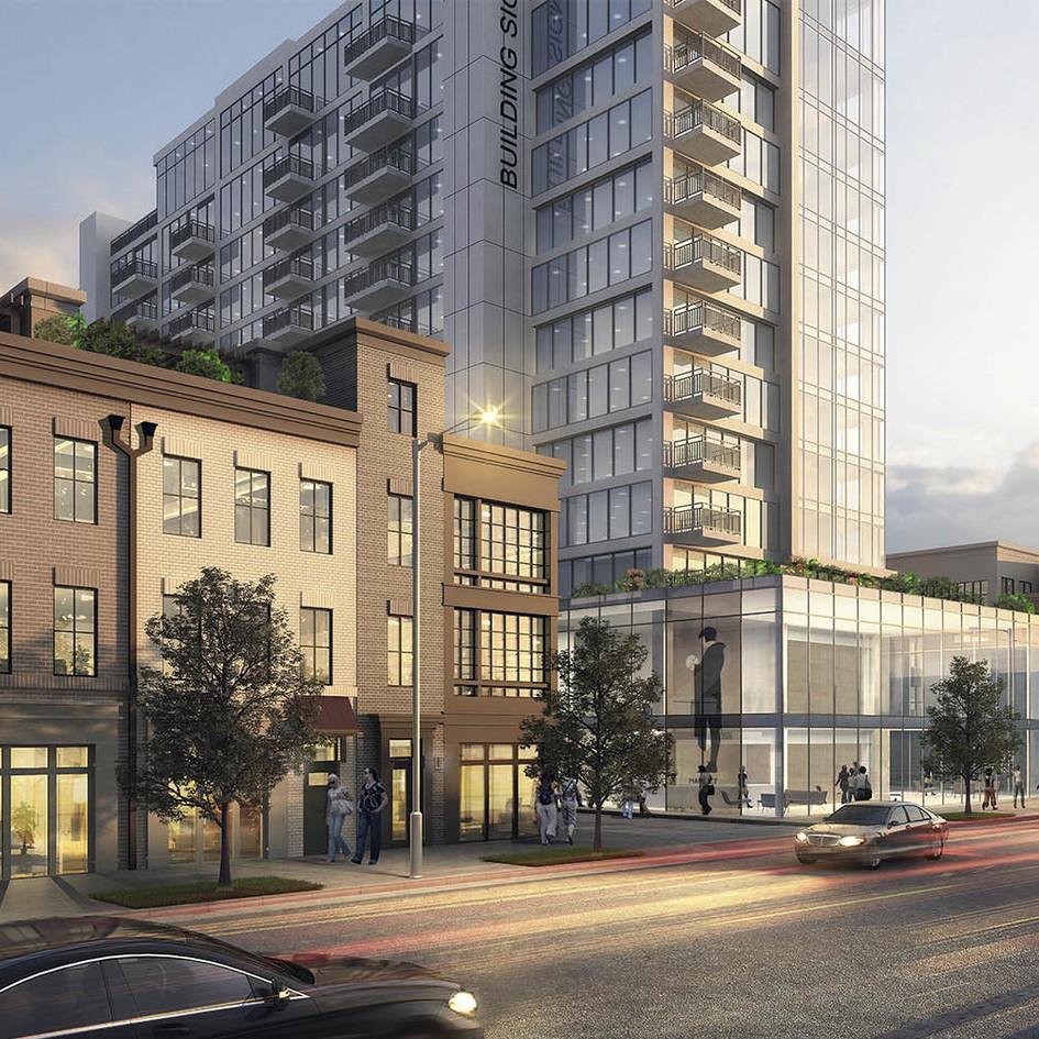 Bridgeline Exteriors is awarded 901 North Fairfax, in Alexandria, VA, by WCS Construction