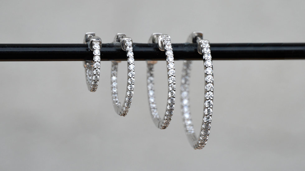 2ctw Diamond Hoops
