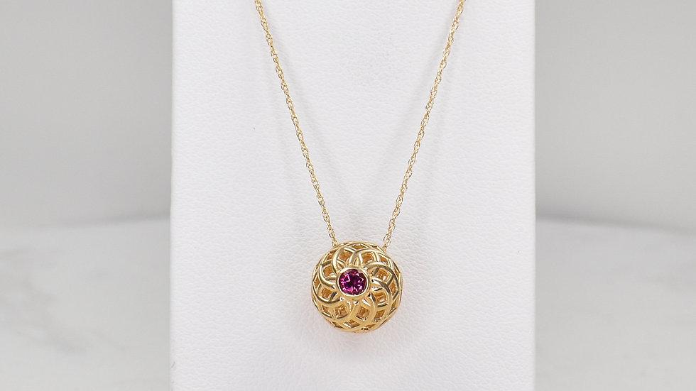 Fatima 3.0 - Pink Tourmaline/14k yellow gold