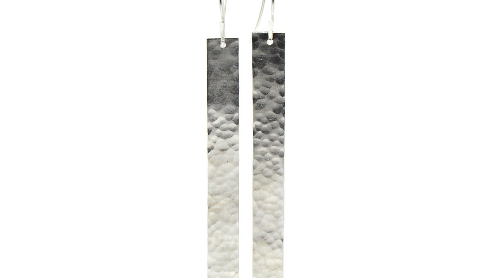 Bar Earrings - Hammered Finish
