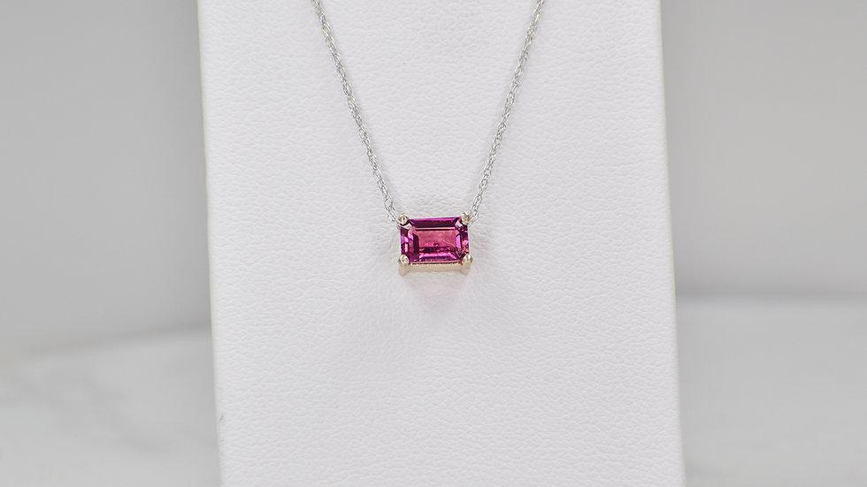 Janelle Pendant - Pink Tourmaline/14k white gold