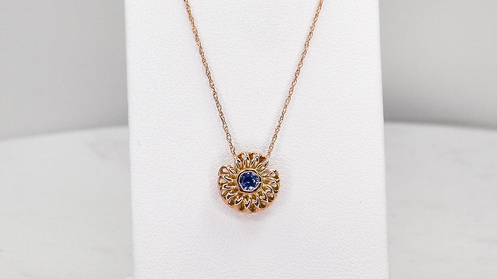 Fatima 2.0 - Blue Sapphire/14k rose gold