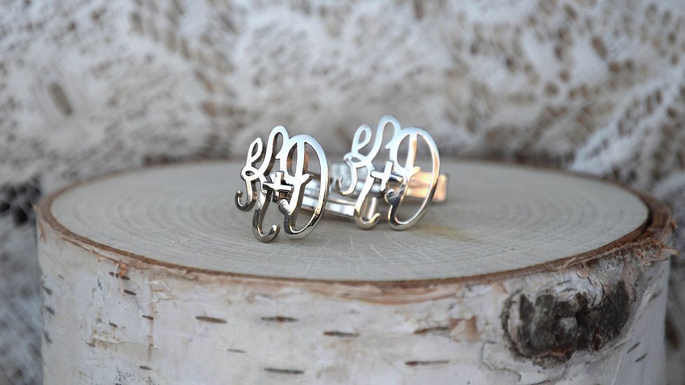 3D Monogram Cuff Links