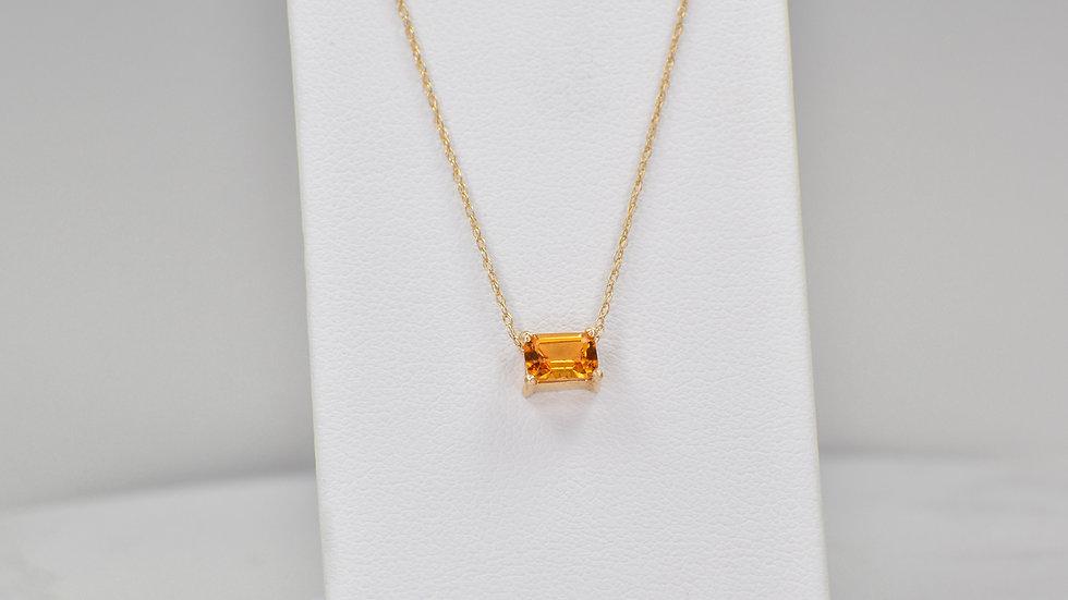 Janelle Pendant - Citrine/14k yellow gold