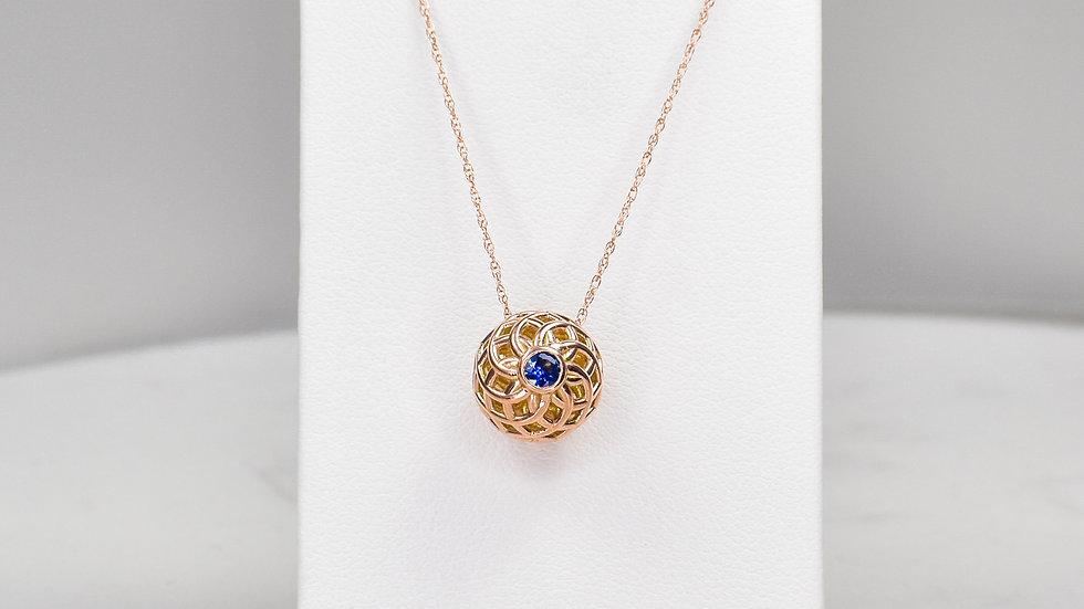 Fatima 3.0 - Blue Sapphire/14k rose gold
