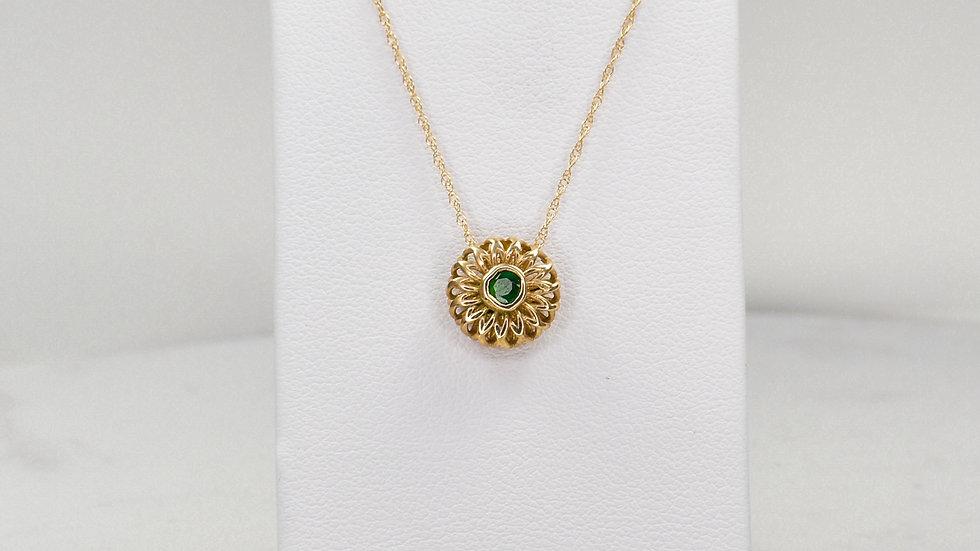 Fatima 2.0 - Emerald/14k yellow gold