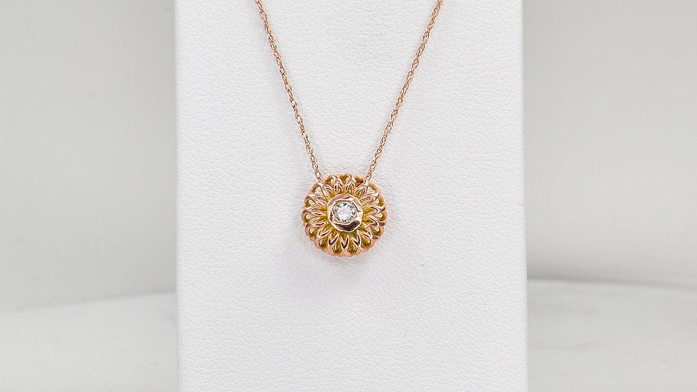 Fatima 2.0 - Diamond/14k rose gold