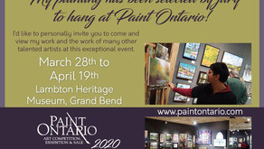 My Painting Has Been Selected by Jury To Hang at Paint Ontario!