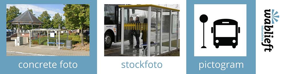 eenvoudige tekst - concrete foto, algemene foto, pictogram