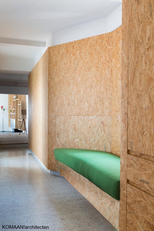 OSB in het interieur - foto: KOMAAN!architecten