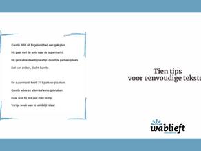 Tien tips voor eenvoudige teksten